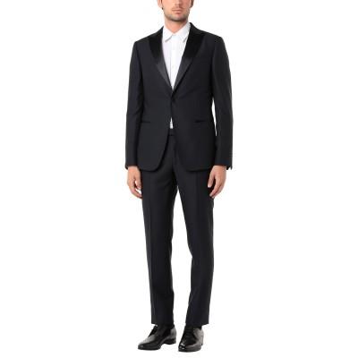 ZZEGNA スーツ ダークブルー 48 ウール 100% スーツ