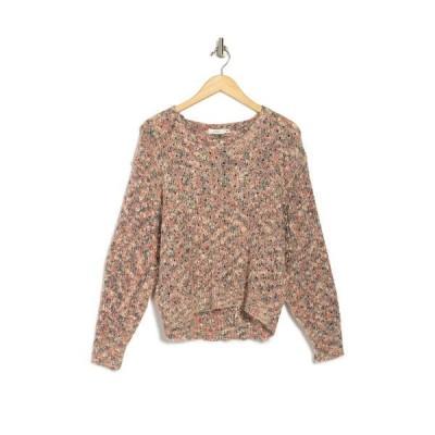 ラッシュ レディース ニット&セーター アウター V-Neck Long Sleeve Knit Sweater PINK MULTI