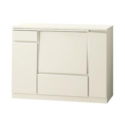 キッチンカウンター 収納 スライド キッチン収納 ホワイト B 110〜170cm おしゃれ シンプル 棚 カウンター キッチン