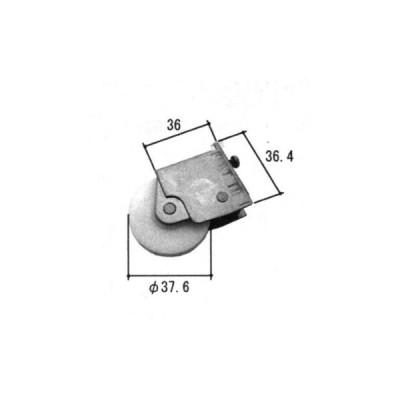 旧立山アルミ補修用部品 引違い窓 戸車:戸車(下かまち)[PKP5305]  立山アルミ 引き違い窓 窓サッシ アルミサッシ とぐるま