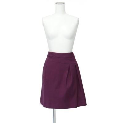 パープル 紫 セミ タイト スカート Sサイズ コットン 綿