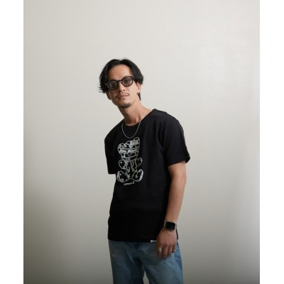 VIBGYOR / 【VIBGYOR BY AS】エナメルパンクベアープリントTEE(FL) MEN トップス > Tシャツ/カットソー