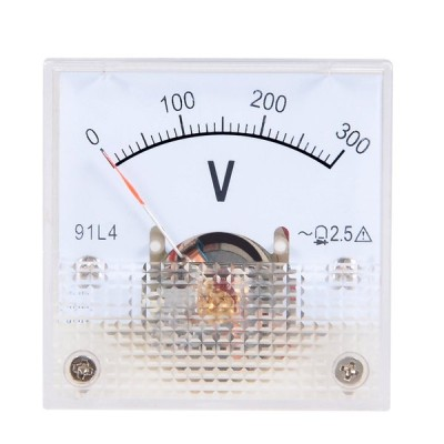 uxcell 電圧計 アナログパネル電圧ゲージ AC 0-300V 誤差マージン2.5% 91C4