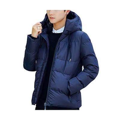 冬服 メンズ 防寒 コート 中綿 ジャケット 長袖 ビジネス フード付き 防風 防寒 アウター 暖かい 秋 冬 深? L