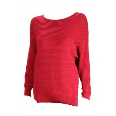 Alfani  ファッション トップス Alfani Red Metallic Knitted Dolman-Sleeve Sweater XS