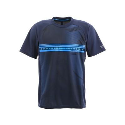 パフォーマンスギア(PG) テニス Tシャツ メンズ 半袖 ドライプラス プロ 732PG0TF8734 NVY (メンズ)
