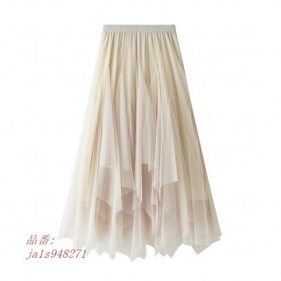 チュールスカート スカート春 スカート スカートコーデ ボスカート レディース ウエストゴム 体型カバー 可愛い マキシ丈スカート ふわふわ