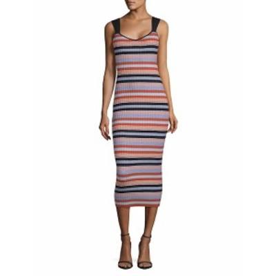 ロニーコボ レディース ワンピース Yaela Striped Bodycon Dress