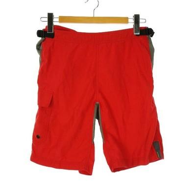 【中古】アルファヌメリック ALPHANUMERIC ショート クライミング パンツ ショーツ W28 メッシュ ポケット 赤 レッド ボトムス メンズ 【ベクトル 古着】