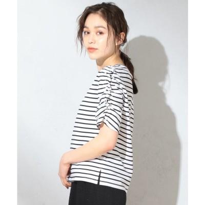 Feroux 【抗菌防臭】シャーリングスリーブ Tシャツ (ブラック系1)