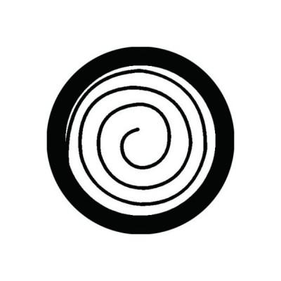 家紋シール 白紋黒地 渦巴 布タイプ 直径40mm 6枚セット NS4-0251W