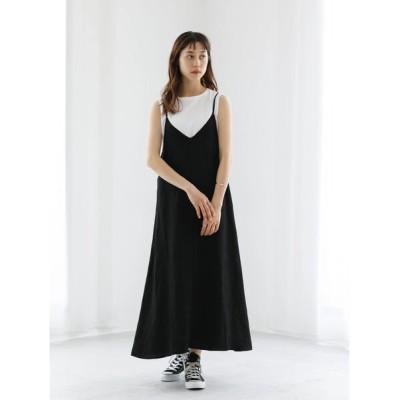 (koe/コエ)・ジャガードキャミワンピース/レディース ブラック