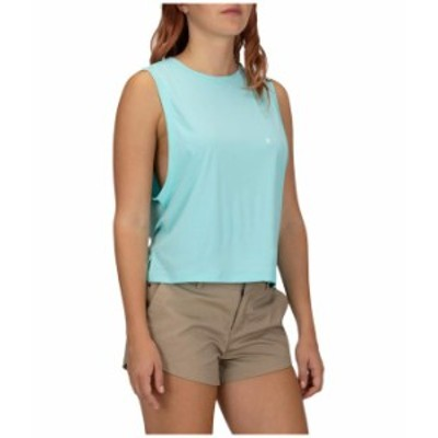 ハーレー レディース シャツ トップス Hybrid Biker Surf Tank Top Light Aqua Heather