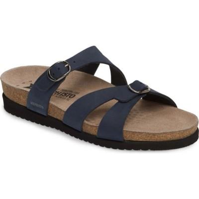 メフィスト MEPHISTO レディース サンダル・ミュール シューズ・靴 'Hannel' Sandal Navy Nubuck Leather