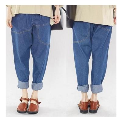 デニムパンツ 大きいサイズ デニム ジーンズ ジーパン パンツ XL-5XL レディース 2色