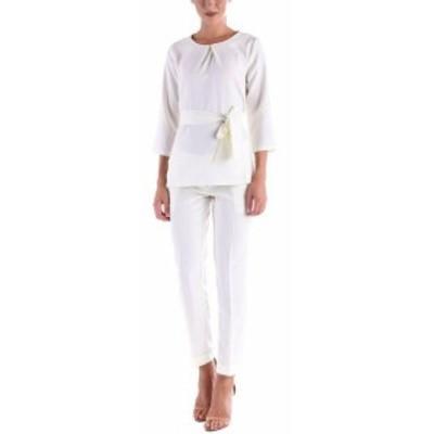 ファッション パンツ Dioni Linen-Blend Blouse & Trouser Set 8/M