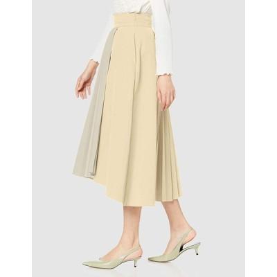 ラグナムーン スカート ハーフプリーツレイヤードスカート レディース 032010800601 クリーム 日本 M (日本サイズM相当)