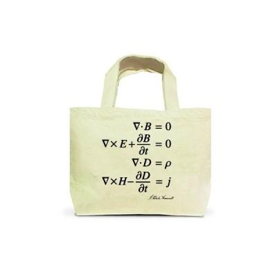 科学Tシャツ:マクスウェルの方程式(微修正版)_黒:物理・電磁気学・数式 トートバッグS(ナチュラル)