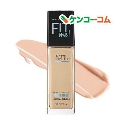 (訳あり)フィットミー リキッド ファンデーション 【マット】125 標準的な肌色(イエロー系) ( 30ml )/ メイベリン