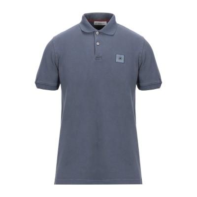 マニュエル リッツ MANUEL RITZ ポロシャツ ブルーグレー M コットン 92% / ポリウレタン 8% ポロシャツ