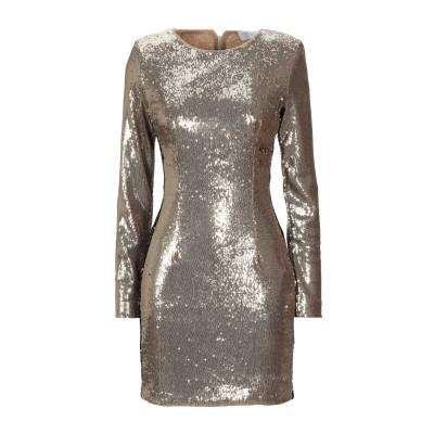 CRISTINAEFFE ミニワンピース&ドレス ゴールド 42 ポリエーテル 85% / ナイロン 15% ミニワンピース&ドレス
