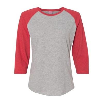 レディース 衣類 トップス Women's Baseball Fine Jersey Three-Quarter Sleeve Tee - NIB Tシャツ