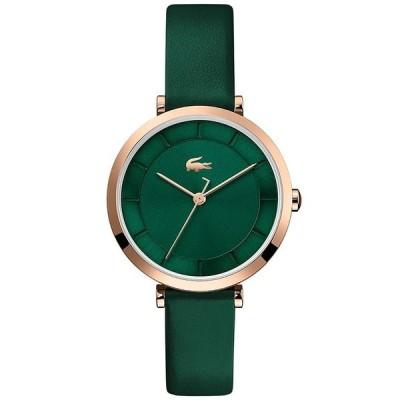 ラコステ 腕時計 アクセサリー レディース Women's Green Leather Strap Watch 32mm Green