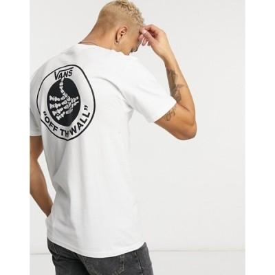 バンズ メンズ シャツ トップス Vans Thumbs Up t-shirt in white