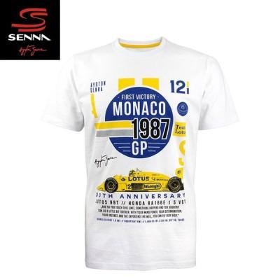 (アイルトン セナ/Ayrton Senna)1987 モナコ  1st ヴィクトリーTシャツ T-Shirt Monaco 1st Victory 1987