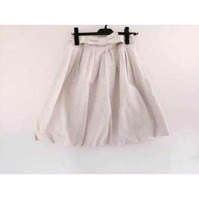 トゥービーシック TO BE CHIC バルーンスカート サイズ38 M レディース 美品 アイボリー リボン【中古】20200710