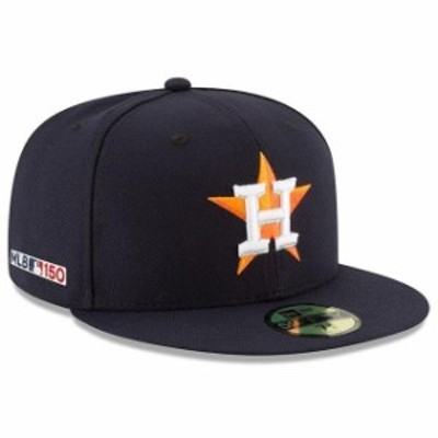 New Era ニュー エラ スポーツ用品  New Era Houston Astros Navy Home MLB 150th Anniversary Authentic Collection 59FIFTY Fitted Hat