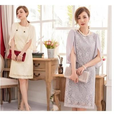 ドレス ワンピース レース シフォン ad-0006