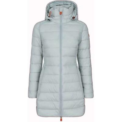 セイブ ザ ダック Save The Duck レディース コート ロングコート フード アウター Giga Hooded Long Coat Frozen Grey