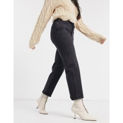 リーバイス レディース デニムパンツ ボトムス Levi's Ribcage straight leg ankle grazer jeans in black Feelin' cagey