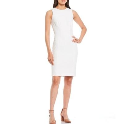 アントニオメラニー レディース ワンピース トップス Gracen Stretch Crepe Sleeveless Sheath Dress Ivory