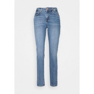 ノイジーメイ デニムパンツ レディース ボトムス NMOLIVIA - Slim fit jeans - medium blue denim