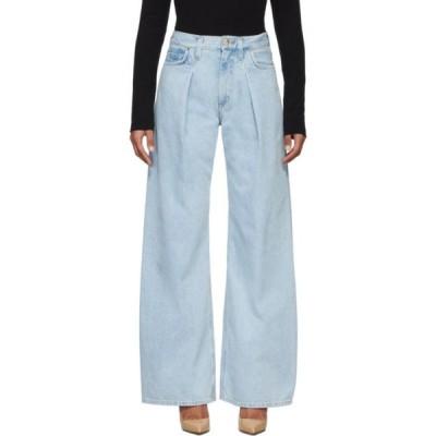 ゴールドサイン Goldsign レディース ジーンズ・デニム ワイドパンツ ボトムス・パンツ Blue 'The Wide Leg' Jeans Nichols