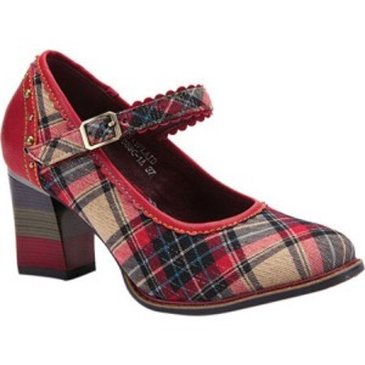 スプリングステップ LArtiste by Spring Step レディース ヒール シューズ・靴 Emjayplaid Heeled Mary Jane Red Multi Plaid Fabric/Lea