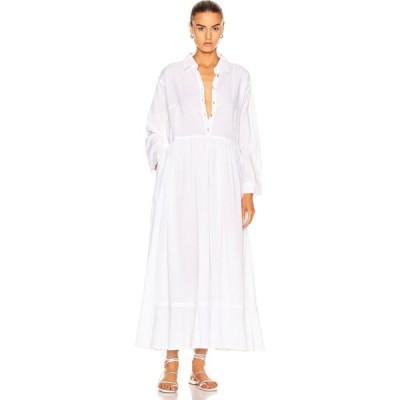 ナタリー マーティン Natalie Martin レディース ワンピース ワンピース・ドレス heath dress Flat Cotton White