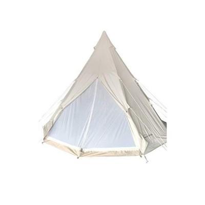 DANCHEL OUTDOOR 防水コットンキャンバス 大人用 インドティピーピラミッドテント ストーブジャック付き キ