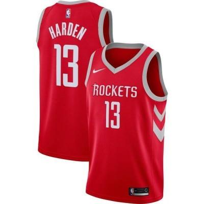 ナイキ メンズ シャツ トップス Nike Men's Houston Rockets James Harden #13 Red Dri-FIT Swingman Jersey
