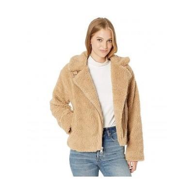 Levi's(R) リーバイス レディース 女性用 ファッション アウター ジャケット コート Sherpa Moto with Buckle Collar Detail - Camel