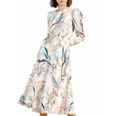 テッドベーカー レディース ワンピース トップス Decadence Puff Sleeve Midi Dress Cream