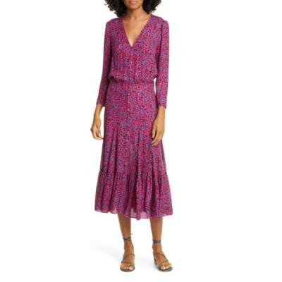 ヴェロニカ ベアード ワンピース トップス レディース Lasanna Floral Silk Dress Fuchsia Multi