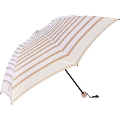 [ムーンバット] LANVIN en Bleu ランバンオンブルー 婦人折りたたみ傘 クイックアーチ(開閉らくちん) ボーダー柄 グラスファイバー仕様