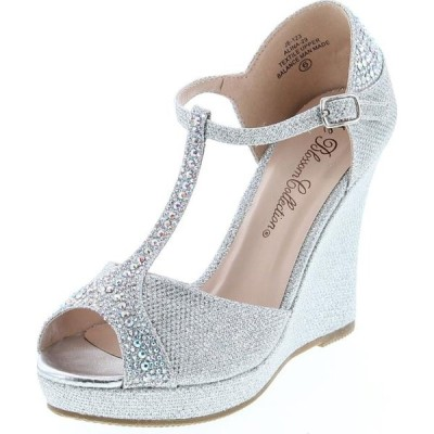 レディース 靴 ドレスシューズ De Blossom Collection Womens Alina-29 Elegant Classic Rhinestones Heel Platform Dress Shoes