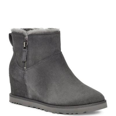 アグ レディース ブーツ&レインブーツ シューズ UGG Classic Femme Zip Mini Water Repellent Suede Boots Grey