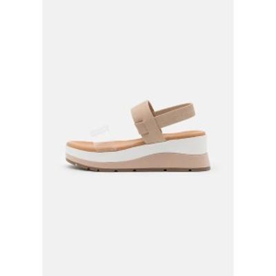 コールイットスプリング レディース サンダル シューズ MOEDDA - Platform sandals - clear clear