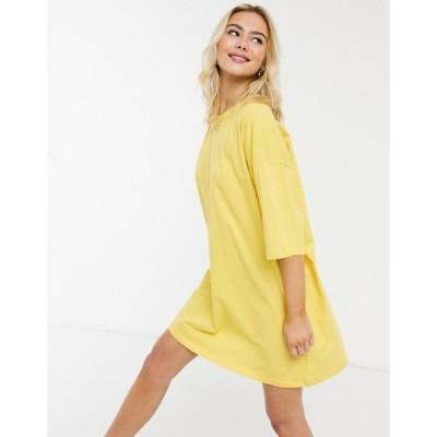 エイソス レディース ワンピース トップス ASOS DESIGN oversized T-shirt dress in yellow