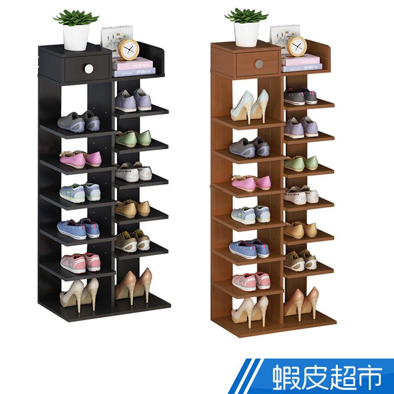 家適帝JUSTY 創新時尚 雙骨加穩 多格收納鞋櫃 7層 12格 8層14格 多款可選 免運費 廠商直送 現貨